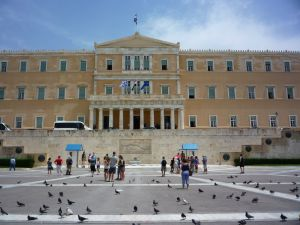Greek Parliament on Syntagma Square - Public domain