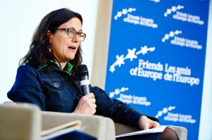 Cecilia Malmström is the EU Trade Commissioner and has been leading TTIP negotiations. She has also been dealing with the numerous criticisms of ISDS - by Friends of Europe licensed under CC BY 2.0