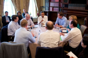 TTIP meeting between leaders of the US and some EU Member States on the sidelines of the G8 summit in Enniskillen, Northern Ireland, in June 2013 - Public Domain