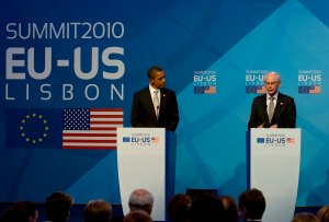 The EU-US Summit 2010 in Lisbon highlights the fact that EU-US relations and agreements are not new - by President of the European Council, licensed under CC BY-NC-ND 2.0