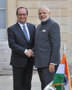 François Hollande and Narendra Modi during recent negotiations - by Co9man, licensed under CC BY-SA 2.0