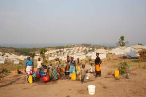 Burundian refugees collecting water at Lusenda camp. The latest conflict has forced over a quarter of a million people to flee their homes - MONUSCO / Abel Kavanagh, licensed under CC-2.0