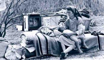 Oleg Litvin - PhotoHomeless as a refugee -  Probably Spring / Summer 1993